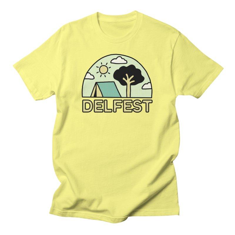 Delfest Campin' Men's T-Shirt by troublemuffin's Artist Shop