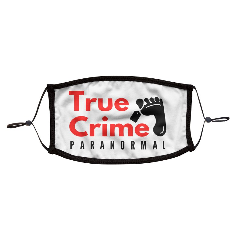 Black Toe Tag 4200x4200 Accessories Face Mask by True Crime Paranormal Fan Merch