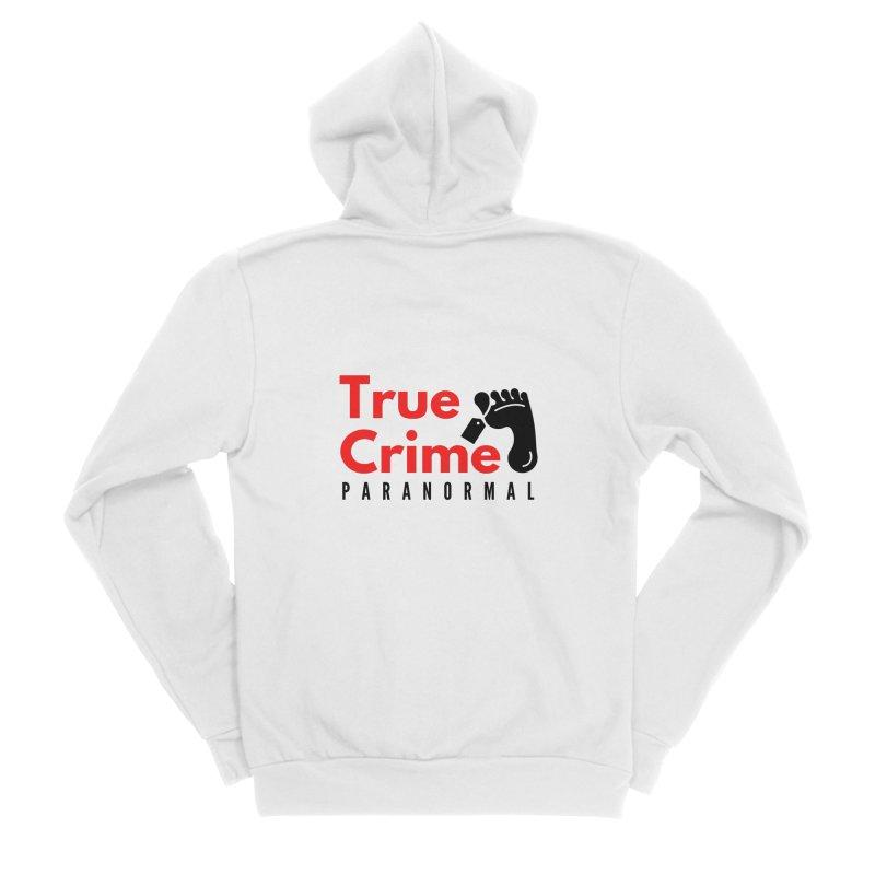 Black Toe Tag 4200x4200 Men's Zip-Up Hoody by True Crime Paranormal Fan Merch