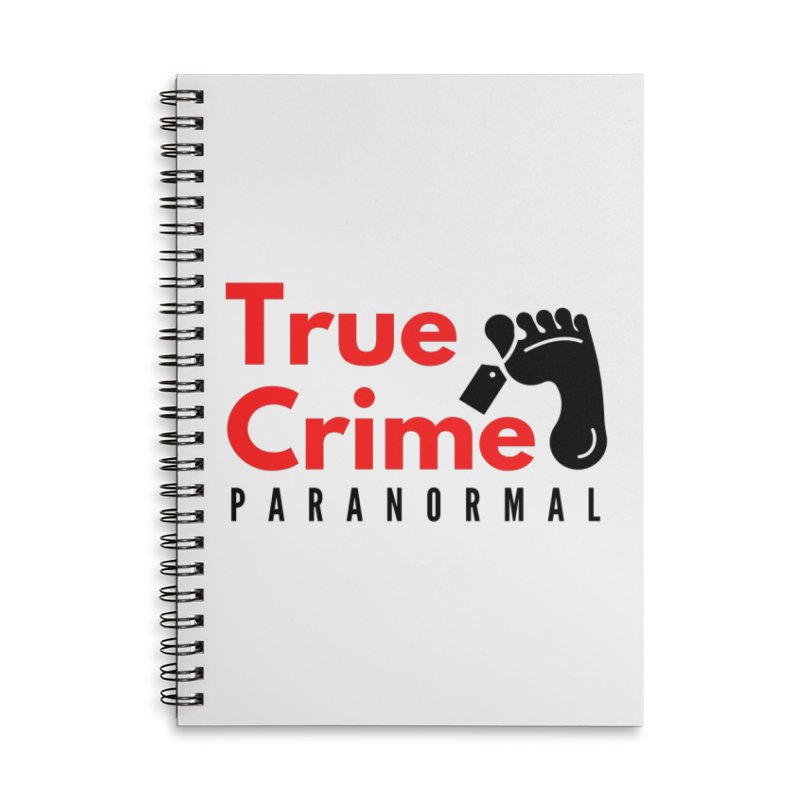 Black Toe Tag 4200x4200 Accessories Notebook by True Crime Paranormal Fan Merch