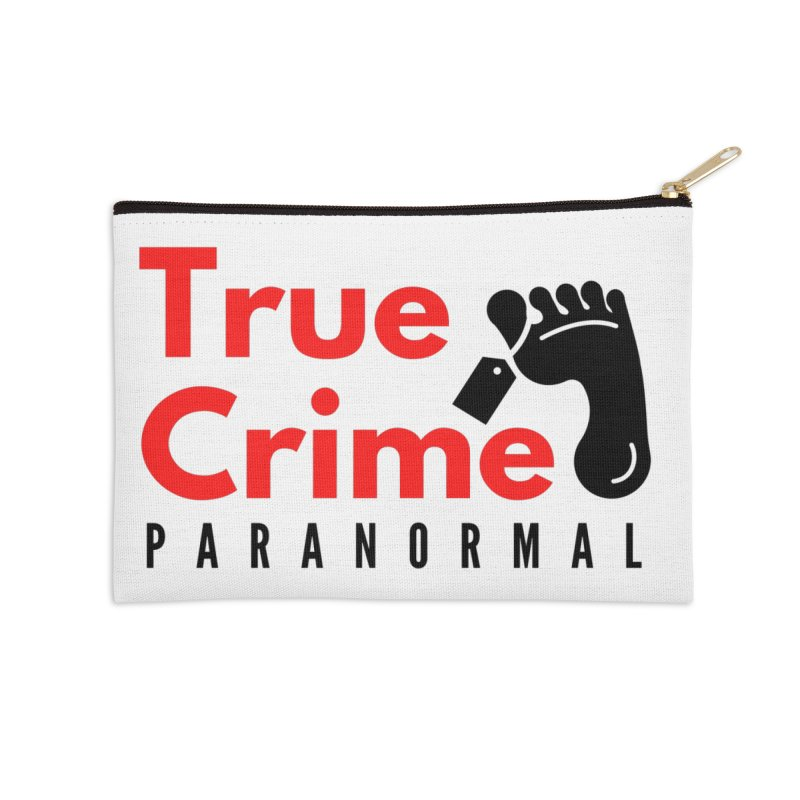 Black Toe Tag 4200x4200 Accessories Zip Pouch by True Crime Paranormal Fan Merch