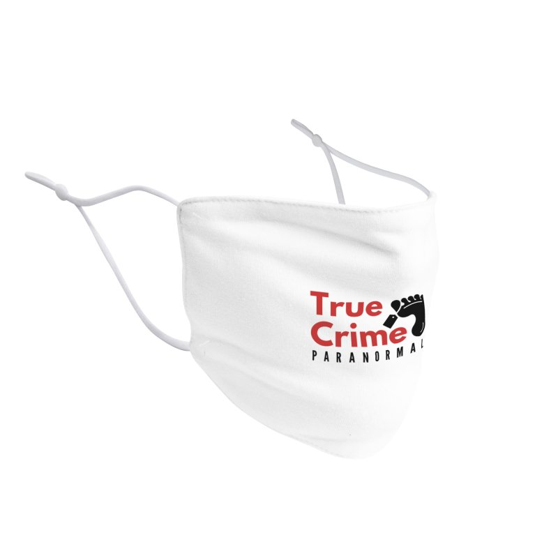 Red on White 4200x4200 Accessories Face Mask by True Crime Paranormal Fan Merch