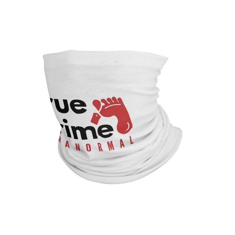 Red on White 4200x4200 Accessories Neck Gaiter by True Crime Paranormal Fan Merch