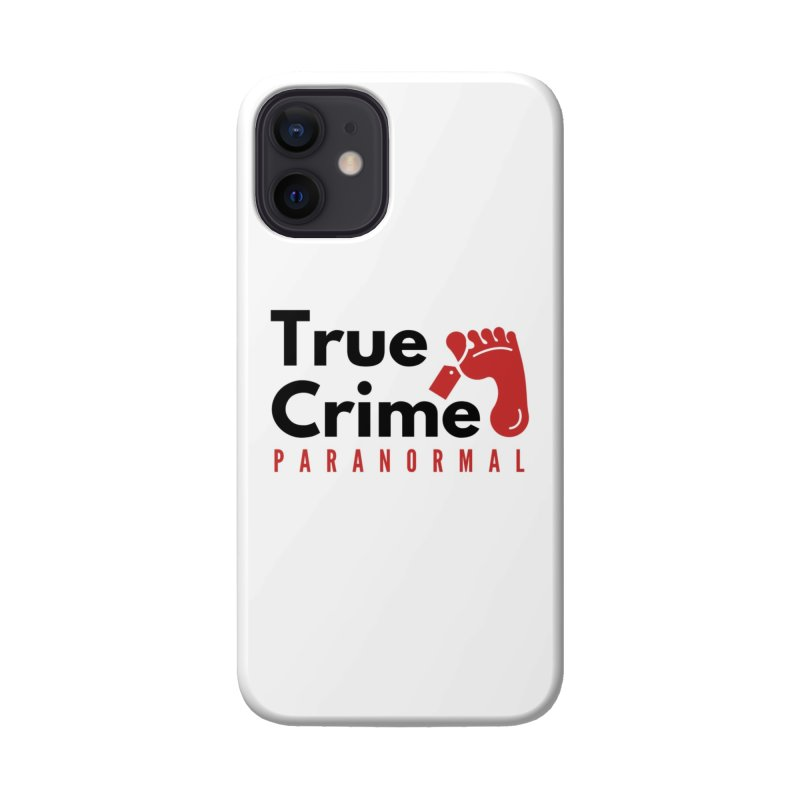 Red on White 4200x4200 Accessories Phone Case by True Crime Paranormal Fan Merch