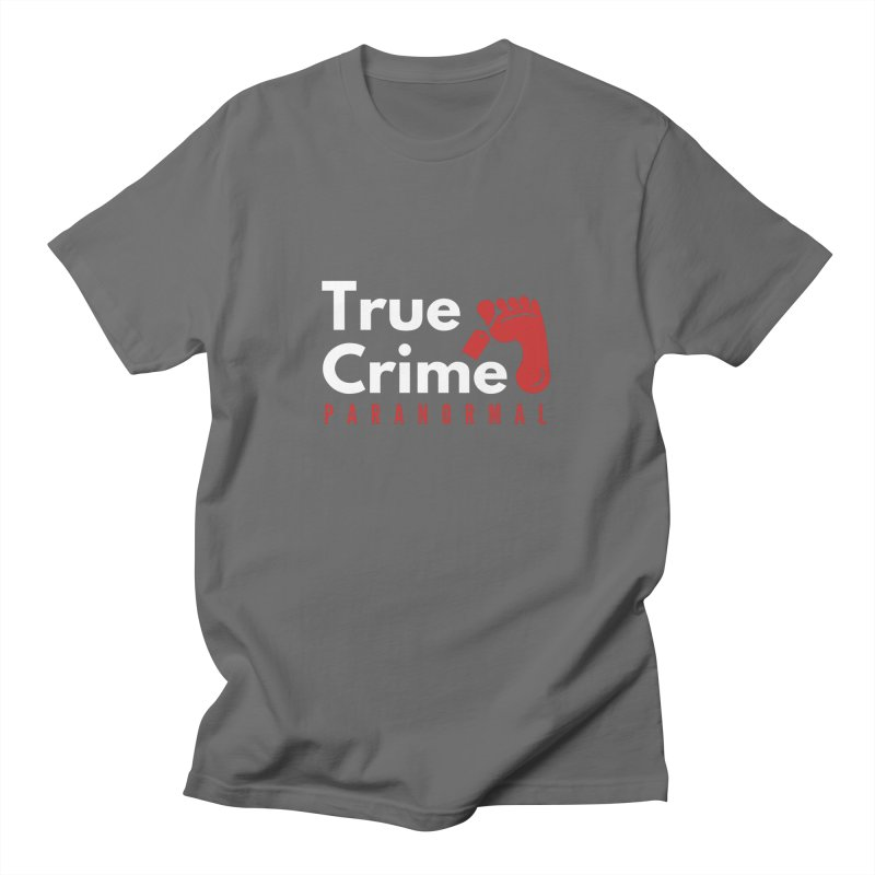 Red on White 4200x4200 Men's T-Shirt by True Crime Paranormal Fan Merch