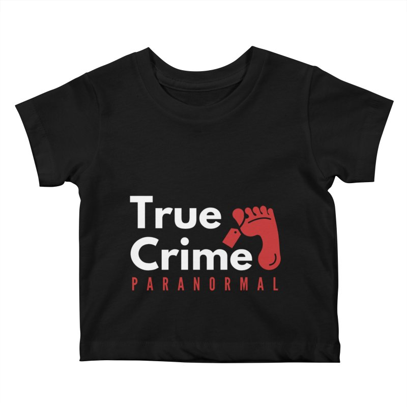 Red on White 4200x4200 Kids Baby T-Shirt by True Crime Paranormal Fan Merch