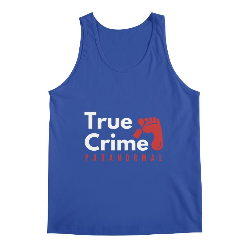 Red on White 4200x4200 Men's Tank by True Crime Paranormal Fan Merch