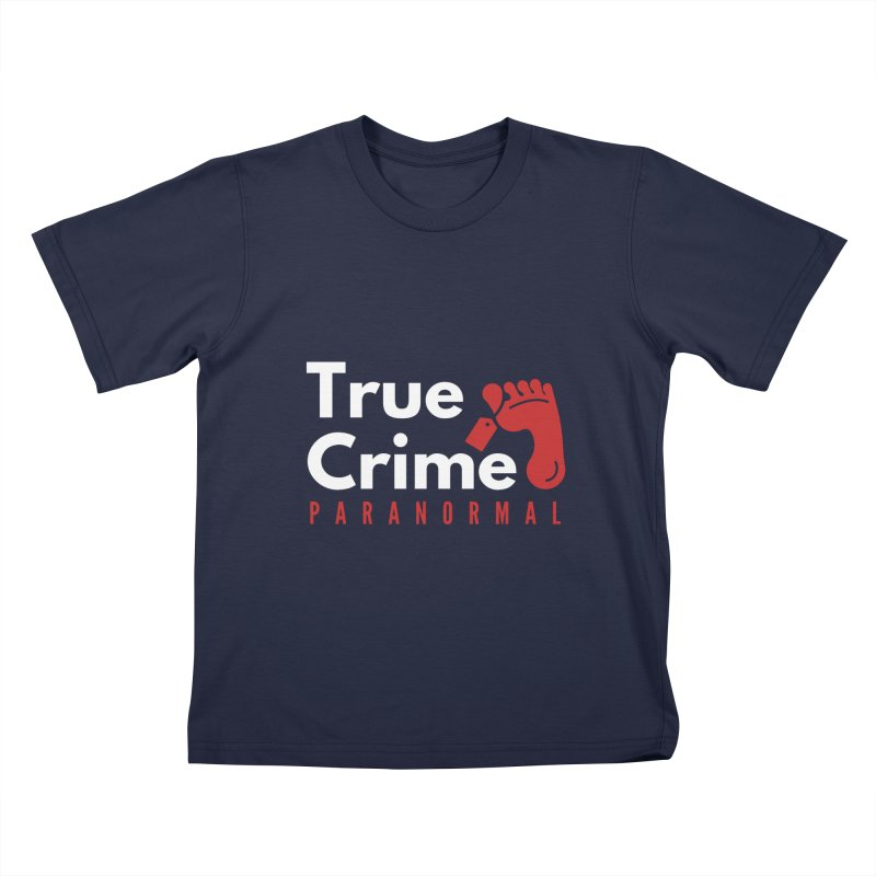 Red on White 4200x4200 Kids T-Shirt by True Crime Paranormal Fan Merch