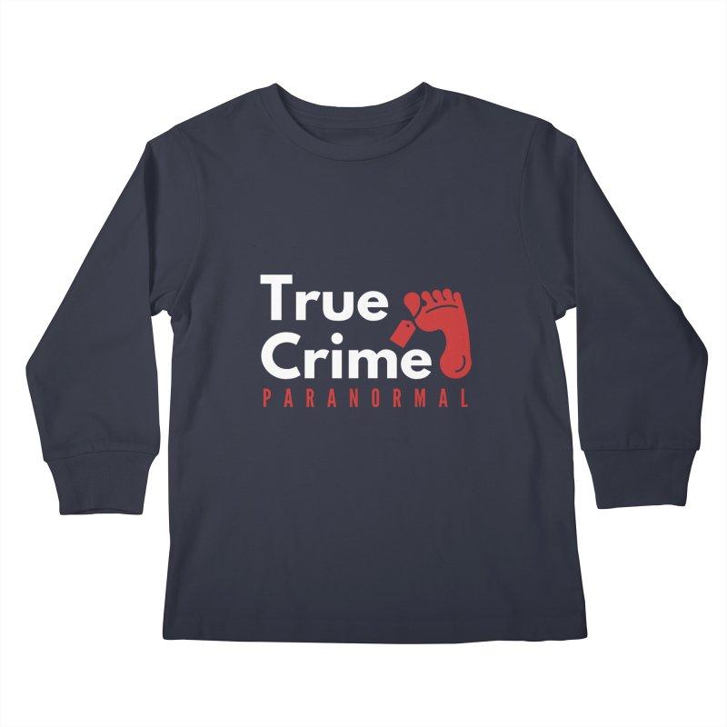 Red on White 4200x4200 Kids Longsleeve T-Shirt by True Crime Paranormal Fan Merch