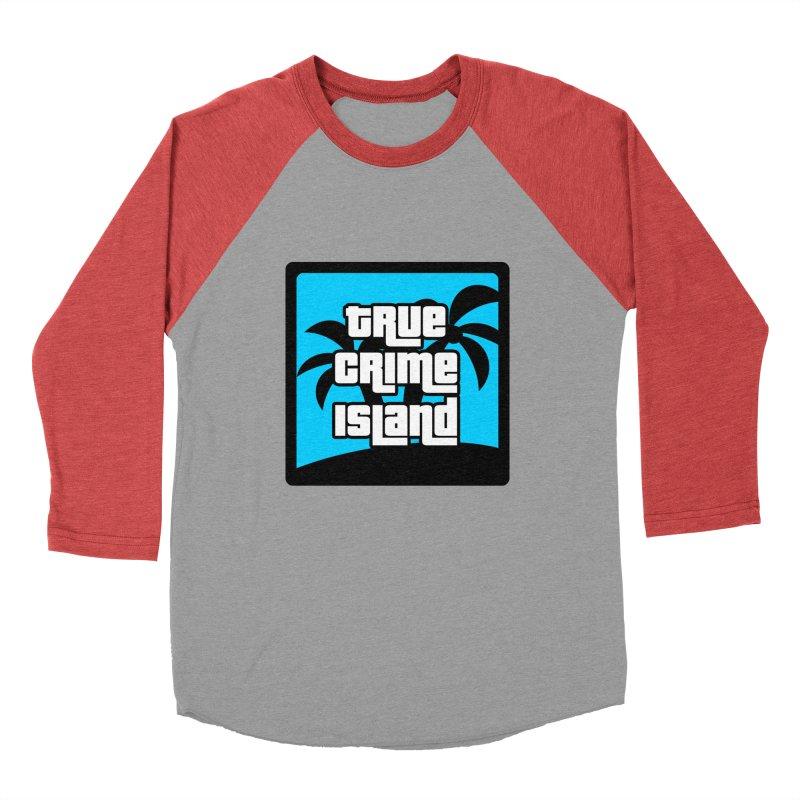 True Crime Island Logo Men's Baseball Triblend Longsleeve T-Shirt by True Crime Island's Artist Shop