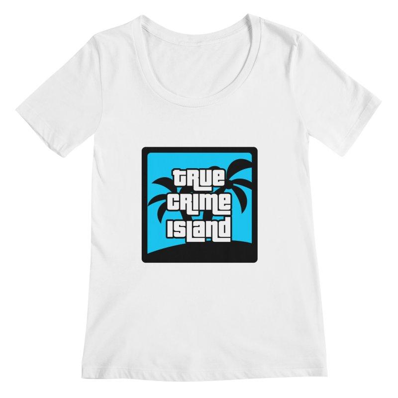 True Crime Island Logo Women's Regular Scoop Neck by True Crime Island's Artist Shop