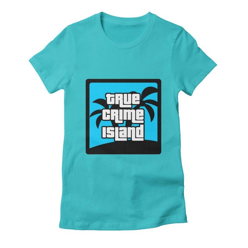 True Crime Island Logo Women's Fitted T-Shirt by True Crime Island's Artist Shop