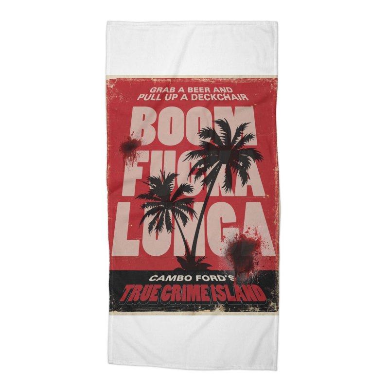 Boomf@ckalunga Swag Accessories Beach Towel by True Crime Island's Artist Shop
