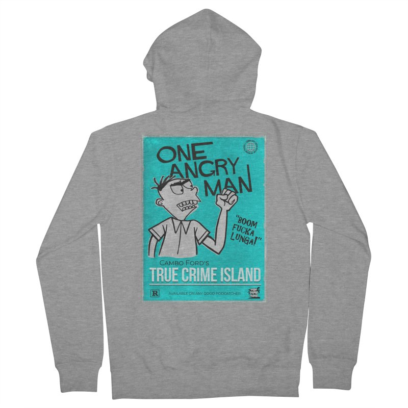 The Rage Range Women's French Terry Zip-Up Hoody by True Crime Island's Artist Shop