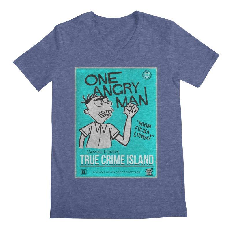 The Rage Range Men's V-Neck by True Crime Island's Artist Shop