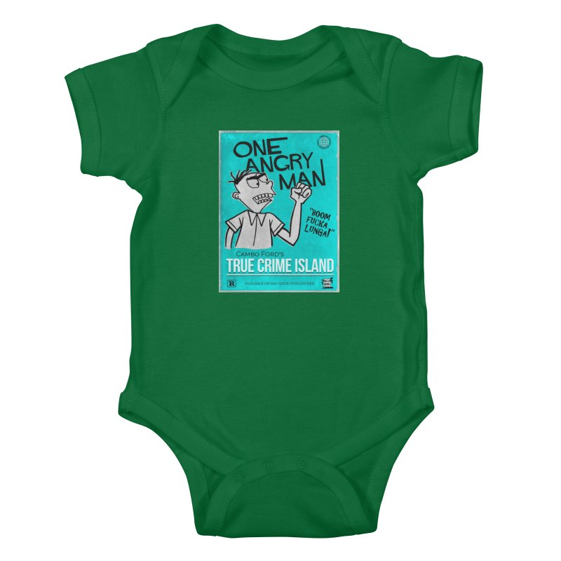 The Rage Range Kids Baby Bodysuit by True Crime Island's Artist Shop