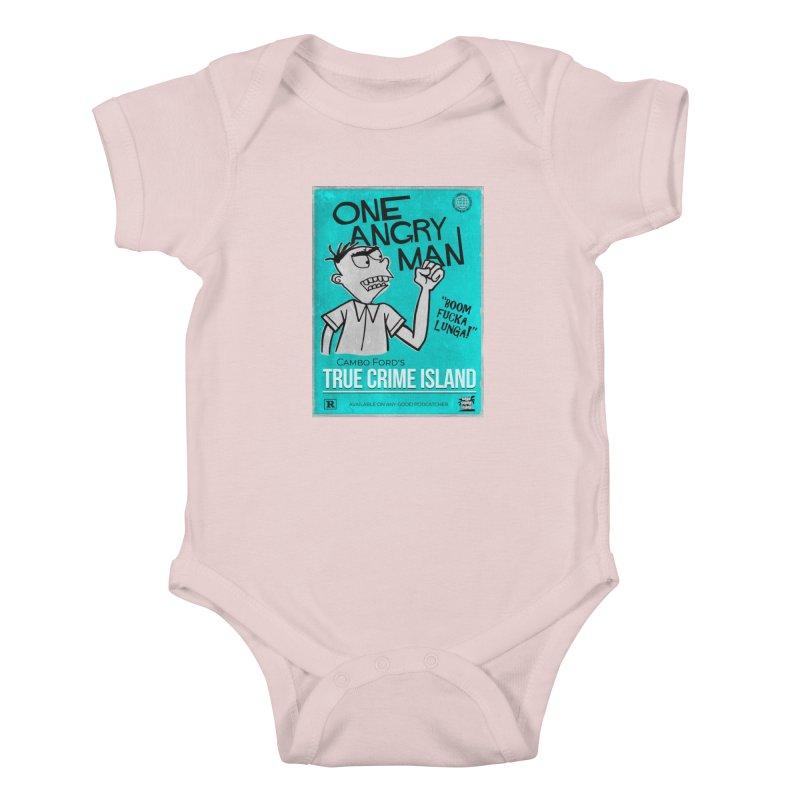 The Rage Range Kids Baby Bodysuit by True Crime Island's Artist Shop