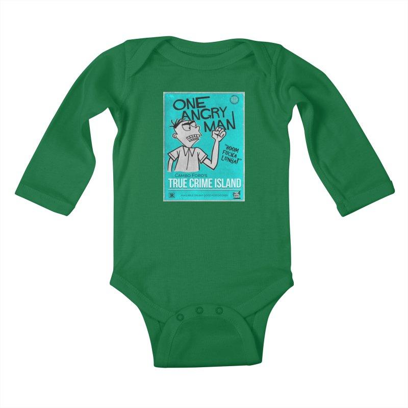 The Rage Range Kids Baby Longsleeve Bodysuit by True Crime Island's Artist Shop