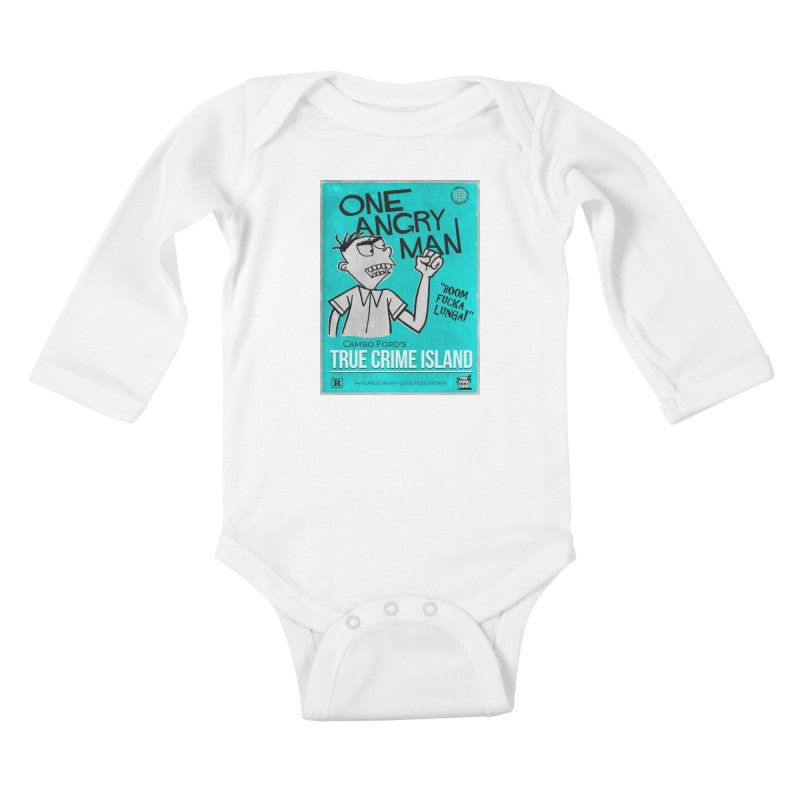 The Rage Range Kids Baby Longsleeve Bodysuit by True Crime Island's Artist Shop