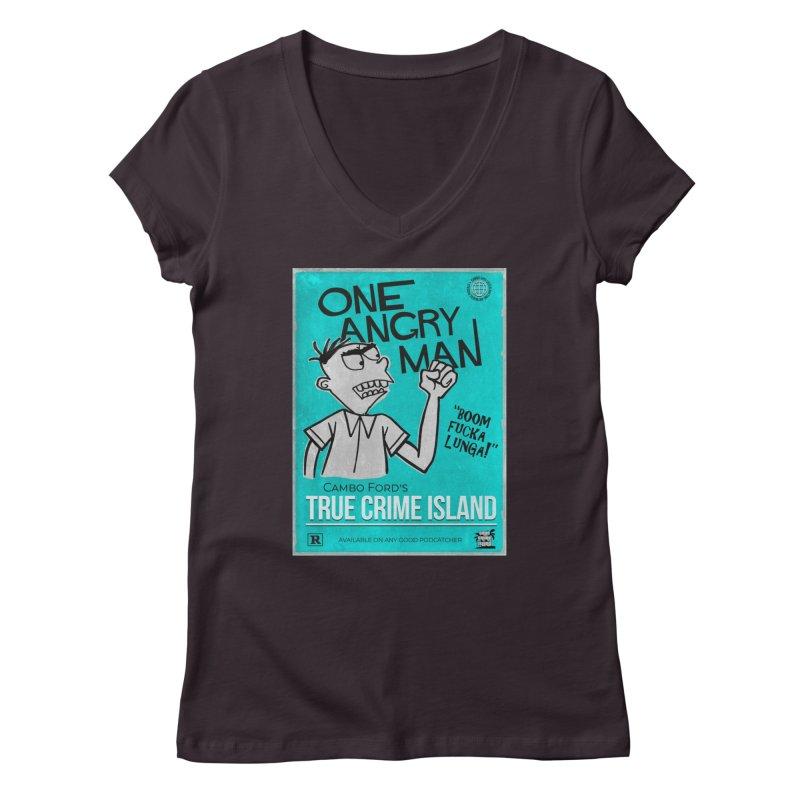 The Rage Range Women's V-Neck by True Crime Island's Artist Shop