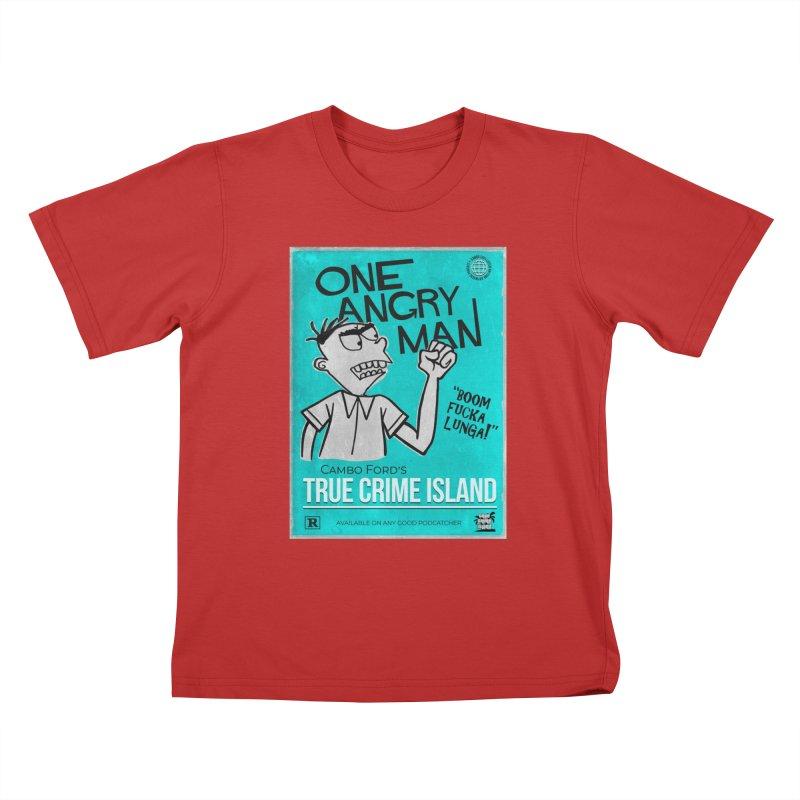The Rage Range Kids T-Shirt by True Crime Island's Artist Shop