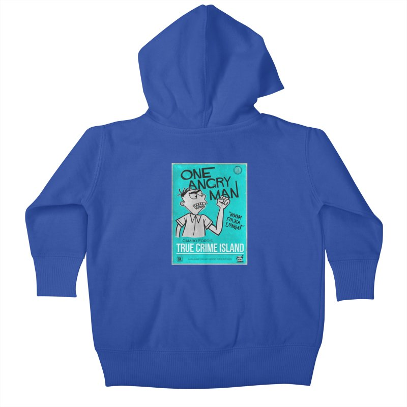 The Rage Range Kids Baby Zip-Up Hoody by True Crime Island's Artist Shop