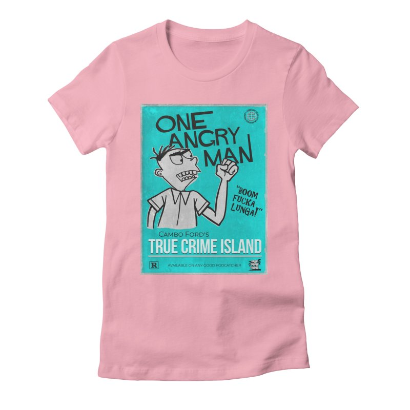 The Rage Range Women's Fitted T-Shirt by True Crime Island's Artist Shop