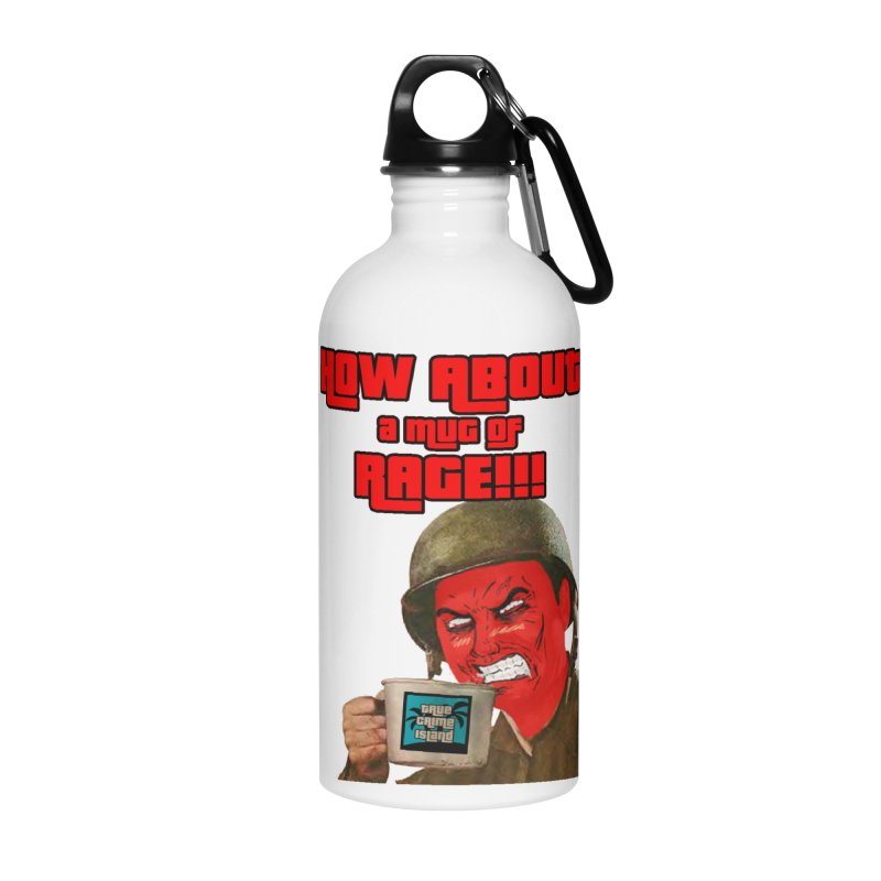 Mug of Rage Accessories Water Bottle by True Crime Island's Artist Shop