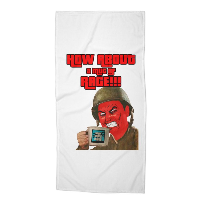 Mug of Rage Accessories Beach Towel by True Crime Island's Artist Shop
