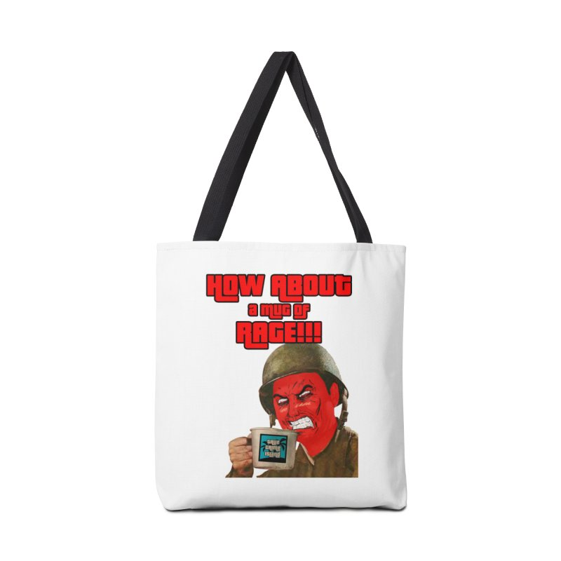 Mug of Rage Accessories Tote Bag Bag by True Crime Island's Artist Shop