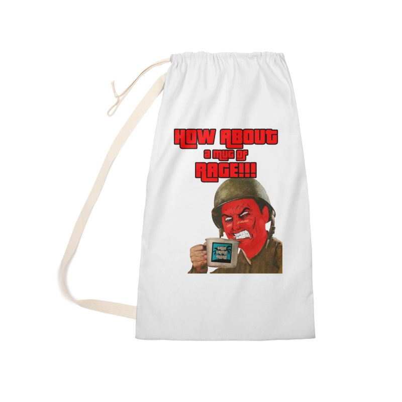 Mug of Rage Accessories Laundry Bag Bag by True Crime Island's Artist Shop