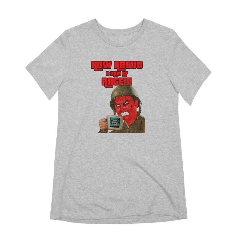 Mug of Rage Women's Extra Soft T-Shirt by True Crime Island's Artist Shop
