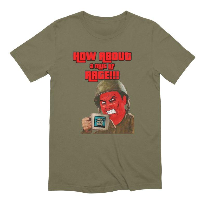 Mug of Rage Men's T-Shirt by True Crime Island's Artist Shop