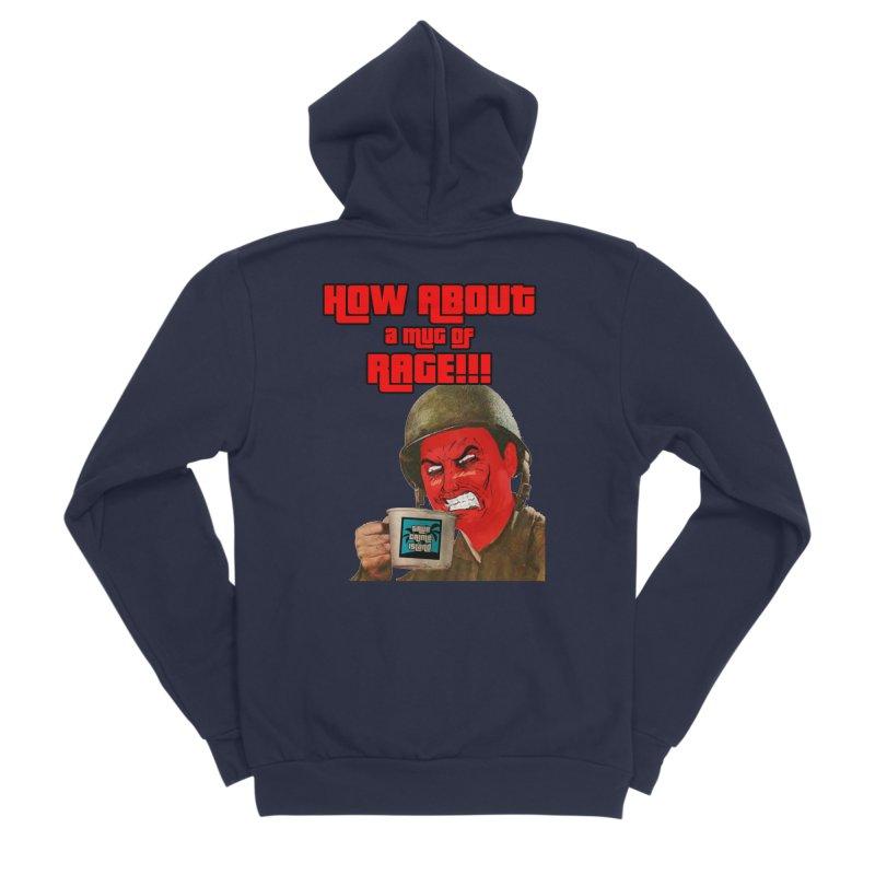 Mug of Rage Men's Sponge Fleece Zip-Up Hoody by True Crime Island's Artist Shop