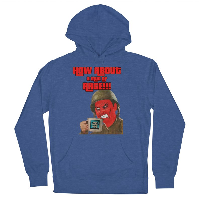 Mug of Rage Men's French Terry Pullover Hoody by True Crime Island's Artist Shop