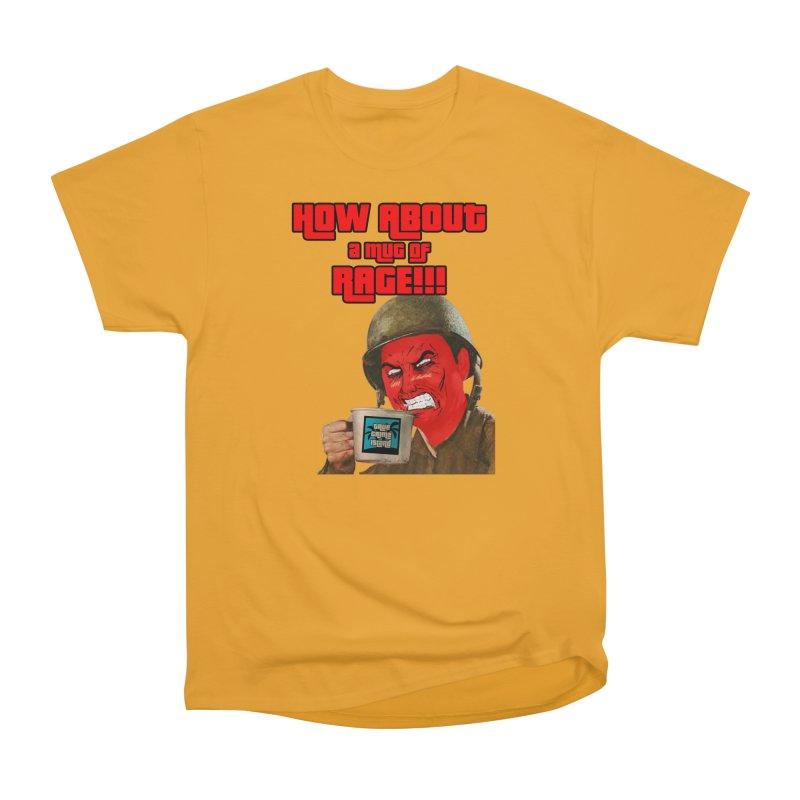 Mug of Rage Women's Heavyweight Unisex T-Shirt by True Crime Island's Artist Shop