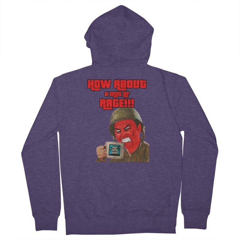 Mug of Rage Men's Zip-Up Hoody by True Crime Island's Artist Shop