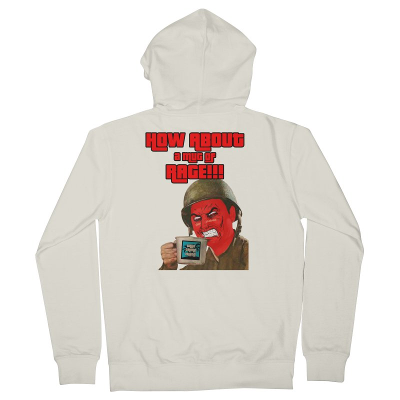 Mug of Rage Men's French Terry Zip-Up Hoody by True Crime Island's Artist Shop