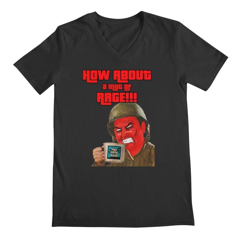 Mug of Rage Men's V-Neck by True Crime Island's Artist Shop