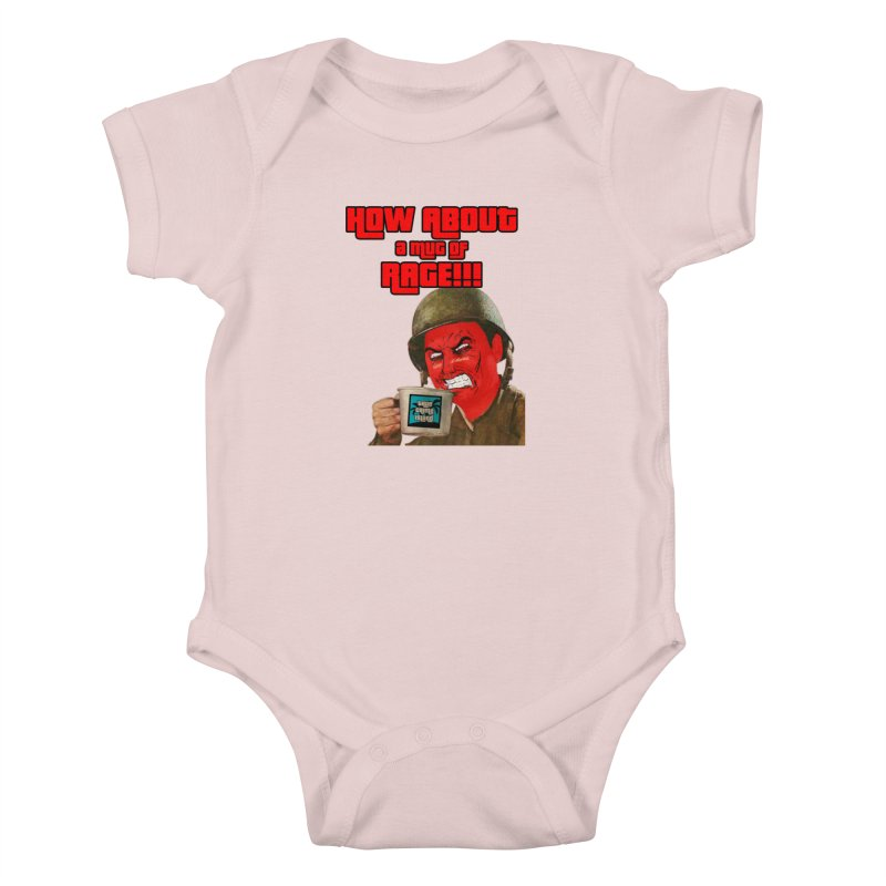 Mug of Rage Kids Baby Bodysuit by True Crime Island's Artist Shop