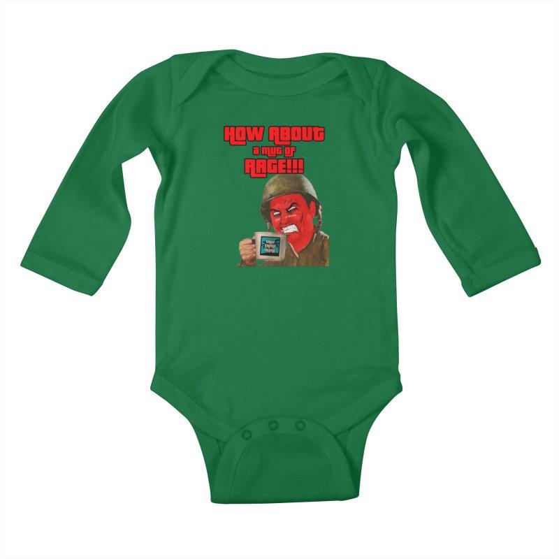 Mug of Rage Kids Baby Longsleeve Bodysuit by True Crime Island's Artist Shop