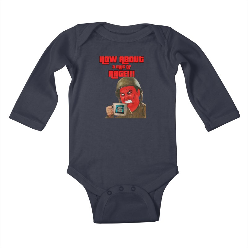 Mug of Rage Kids Baby Longsleeve Bodysuit by True Crime Island's Artist Shop