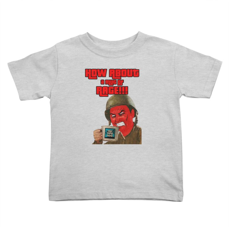 Mug of Rage Kids Toddler T-Shirt by True Crime Island's Artist Shop