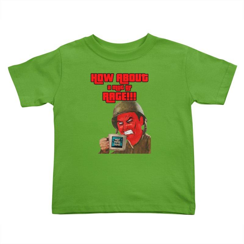 Mug of Rage Kids Toddler T-Shirt by True Crime Island's Artist Shop