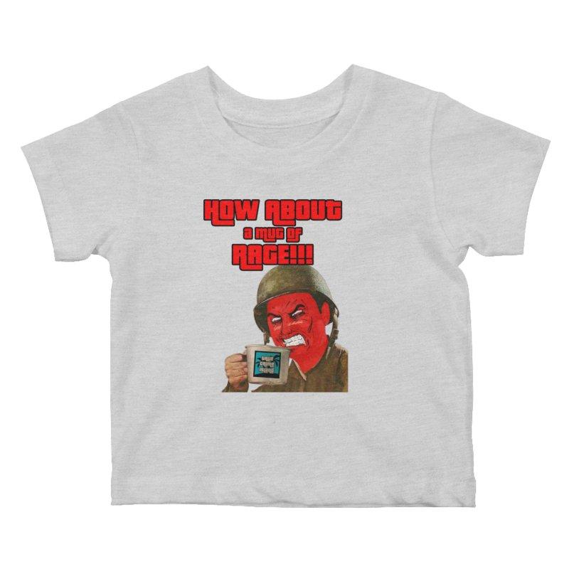 Mug of Rage Kids Baby T-Shirt by True Crime Island's Artist Shop