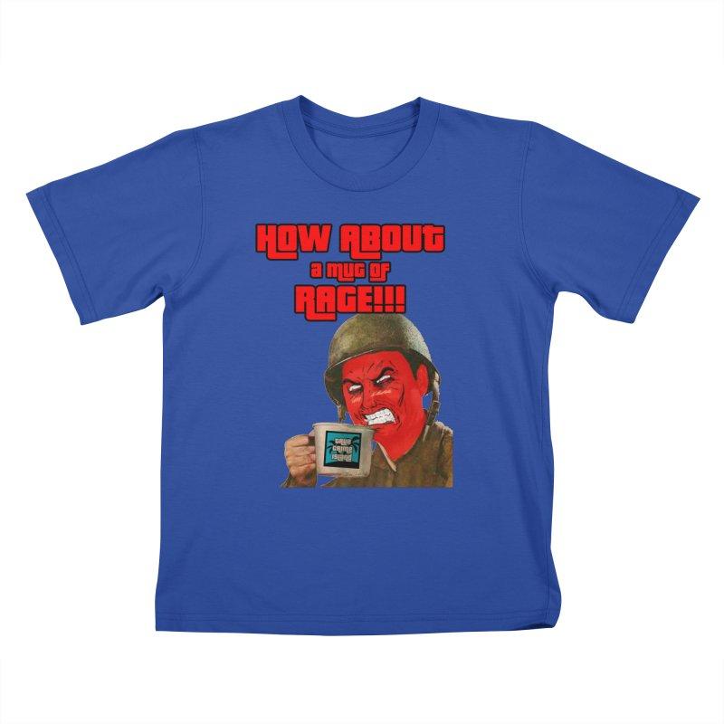 Mug of Rage Kids T-Shirt by True Crime Island's Artist Shop