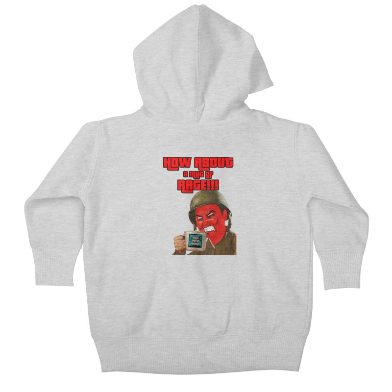Mug of Rage Kids Baby Zip-Up Hoody by True Crime Island's Artist Shop