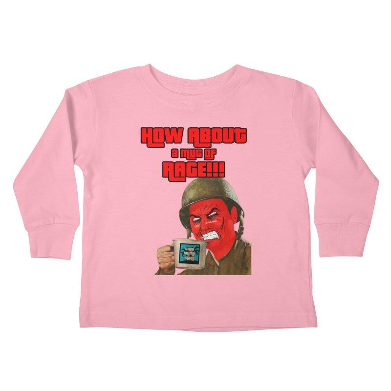 Mug of Rage Kids Toddler Longsleeve T-Shirt by True Crime Island's Artist Shop