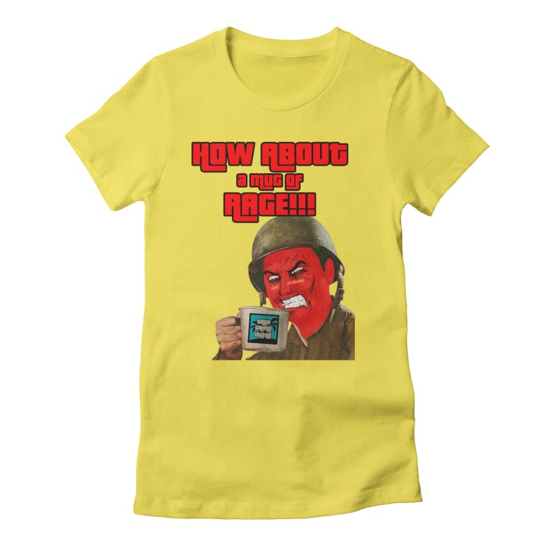 Mug of Rage Women's T-Shirt by True Crime Island's Artist Shop