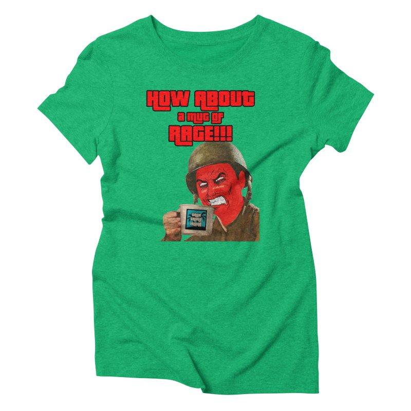 Mug of Rage Women's Triblend T-Shirt by True Crime Island's Artist Shop